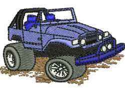 All Terrain Vehicle embroidery design