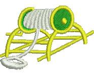 Lifesaving Reel embroidery design