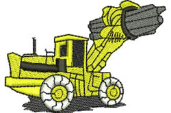 Heavy Lifter embroidery design