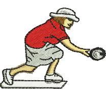 Lady Bowler embroidery design