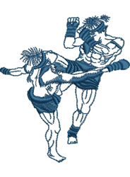 Kickboxing embroidery design