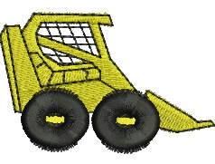 skid steer embroidery design