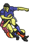 Rugby Tackle embroidery design