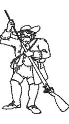 Rifleman embroidery design