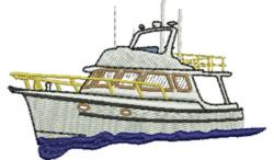 Pleasure Boat embroidery design