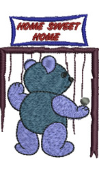 Welcome Home Teddy embroidery design