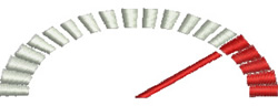 Speedometer embroidery design