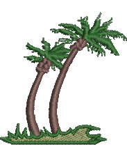 Stormy Palms embroidery design