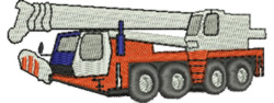 Crane Truck embroidery design
