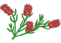 Bottlebrush embroidery design