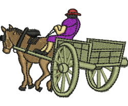Horse and Cart embroidery design