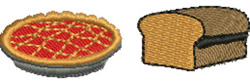 Pie and Bread embroidery design
