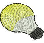 Light Bulb embroidery design