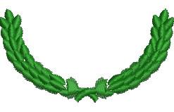 Half Wreath embroidery design