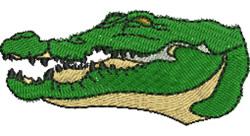 Crocodiles Head embroidery design