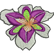 Tiger Orchid embroidery design