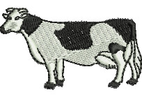 Holstein Cow embroidery design