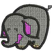 Cross Stitch Elephant embroidery design