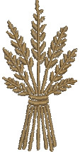 Sheaf of Wheat embroidery design
