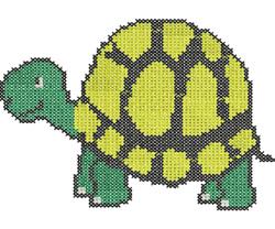 Cross Stitch Turtle embroidery design
