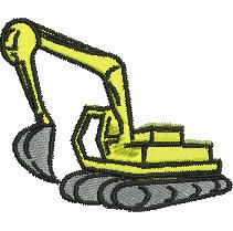 Excavator embroidery design