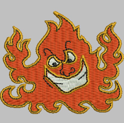 Flames embroidery design