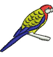 Rosella Parrot embroidery design