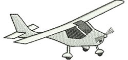 Light Plane embroidery design