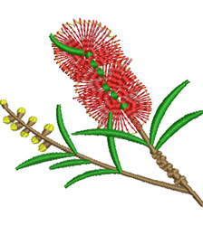 Bottlebrush embroidery design
