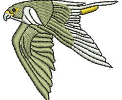 Falcon In Flight embroidery design