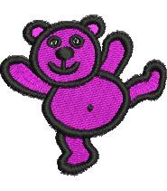 Dancing Teddy Bear embroidery design