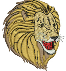 Roaring Lion embroidery design