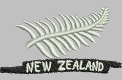 Silver Fern embroidery design