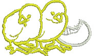Chicks and Egg embroidery design