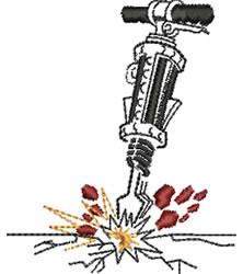 Jackhammer embroidery design