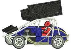 Speedway Sprint Car embroidery design