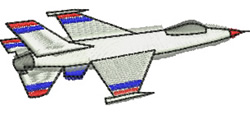 Jet Fighter embroidery design