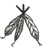 Feathers embroidery design
