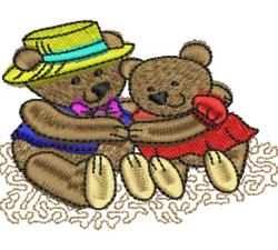 Teddy Couple embroidery design