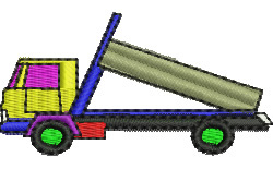 Tip Truck embroidery design