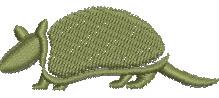 Armadillo embroidery design
