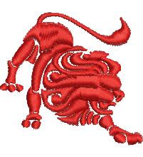 Leo embroidery design