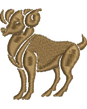 Aries embroidery design