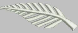 Silver Fern embroidery design