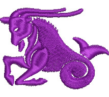 Capricorn embroidery design