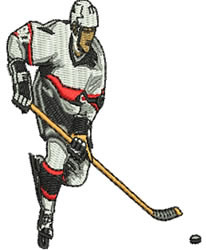 Hockey Player embroidery design