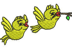 Pair of Birds embroidery design