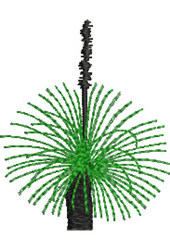 Grass Tree embroidery design