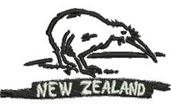 New Zealand Kiwi embroidery design