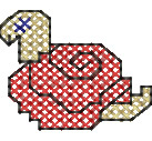 Cross Stitch Snail embroidery design